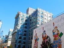 My Lamp Beside The Golden Door. A mural along the Highline Park in Manhattan, New York City Royalty Free Stock Photos
