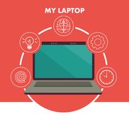 My laptop concept Royalty Free Stock Image