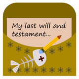 My last will and testament Royalty Free Stock Photography