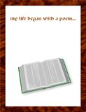 My life began with a poem... A book where poem begin Royalty Free Stock Images