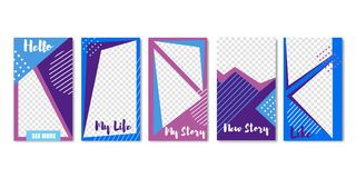 My Life Set of Templates with Spaces for Photos. vector illustration