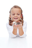 My little buddies. My little lovely buddies - girl and her hamsters Royalty Free Stock Photo