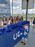 My little guy with the Colts Cheerleaders stock photos