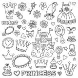 My little princess Hand drawn doodle elements Royalty Free Stock Image