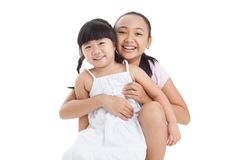 My little sister and me Stock Image