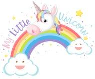 Free My Little Unicorn And Rainbow Stock Photography - 115562362