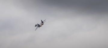 Myśliwa odrzutowego samolot z dopalaczem Obrazy Royalty Free