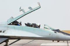 Myśliwiec odrzutowy rosyjski taktyczny kokpit MIG-29 Obraz Stock