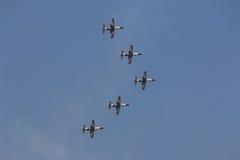 Myśliwowie przy airshow w Kair Egipt Zdjęcie Stock