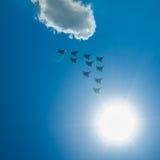 Myśliwska eskadra na paradzie w Moskwa Zdjęcie Royalty Free