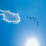 Myśliwska eskadra na paradzie w Moskwa Obrazy Stock