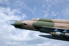 Myśliwski Bojowy samolot MIG 21 Obrazy Royalty Free