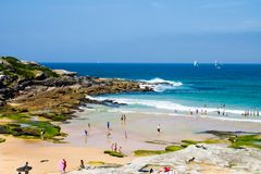 My local beach, Maroubra, in Sydney, Australia royalty free stock photos