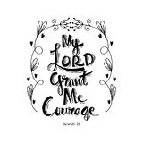My lord grand me courage Royalty Free Stock Photo