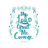 My lord grand me courage Royalty Free Stock Images