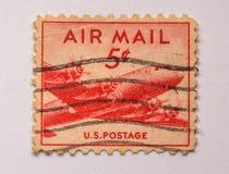 My Lotniczej poczta znaczek, rocznik! Zdjęcia Stock