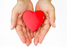 My love. My heart on the palm - love symbol Stock Photo