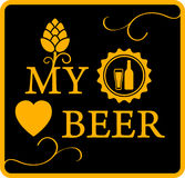 My love beer icon Royalty Free Stock Images