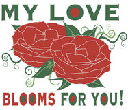 My Love Blooms Royalty Free Stock Photos