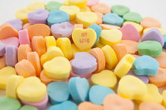 My Love Conversation Heart Stock Image