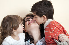 My love in a kiss, mother! Royalty Free Stock Image
