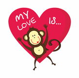 My love is monkey Royalty Free Stock Images