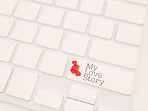 My love story concept, 3d render Royalty Free Stock Photo