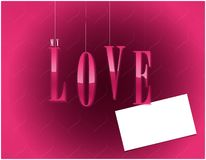 My love valentines card Royalty Free Stock Images