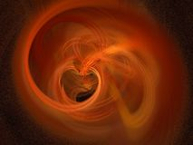 My love is warm. Heart shaped flame created with Apophysis, very suitable as background because of the amazing detail Stock Photos