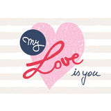 My love is you Royalty Free Stock Photography