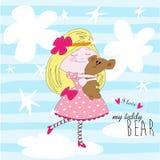 My lovely teddy bear – vector illustration Royalty Free Stock Photos