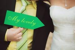 My lovely. Wedding couple Royalty Free Stock Image