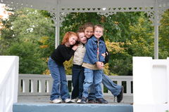 My loving children. Four of my kids at the park royalty free stock images