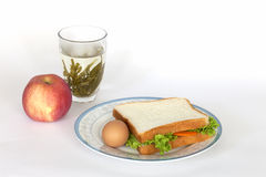 My lunch. A balabced diet Stock Photography