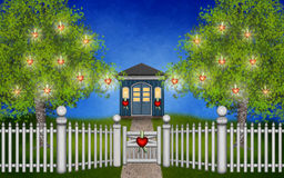 My magical Valentine garden Stock Images