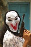 My mask and my gun Stock Image