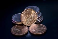 My menniczy dolar odizolowywający Zdjęcia Royalty Free