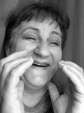 My Mother Laughing. Big smile.Happy senior woman royalty free stock photos