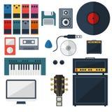 My Music Studio Instrument Flat Design. Creative design of My Music Studio Instrument Flat Design Stock Image