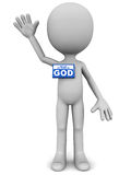 My name is god Stock Photography
