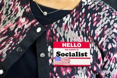 My Name is Socialist. My name label is a Socialist royalty free stock photo
