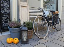 My Neighbourhood, Autumn Decoration Of A Shop Stock Image