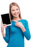 My new digital tablet. Royalty Free Stock Image