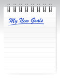 My new goals notepad illustration design Stock Photography