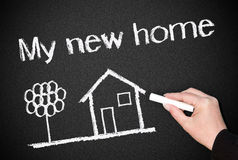 My new home drawing Stock Photos