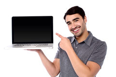 This is my new laptop Royalty Free Stock Photography