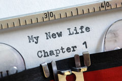 My new life. Chapter one concept for fresh start, new year resolution, dieting and healthy lifestyle