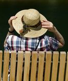 My new straw hat Royalty Free Stock Images