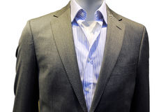 My new suit. New suit on sale, my new suit Royalty Free Stock Photography