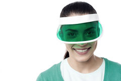 My new sun visor. Royalty Free Stock Photos